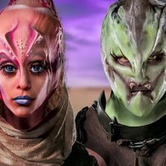 In this competition/elimination series, special effects make-up artists participate in elaborate challenges for a grand prize and the honor of being Hollywood's next great effects artist. Face Off Makeup, Sfx Makeup, Makeup Tricks, Makeup Ideas, Face Off Syfy, Special Effects Makeup Artist, Body Paintings, Theatrical Makeup, Up Costumes