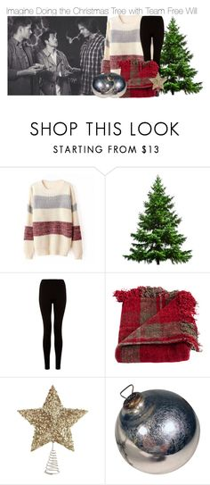 """Imagine Doing the Christmas Tree with Team Free Will"" by fandomimagineshere ❤ liked on Polyvore featuring Woven Workz and Pier 1 Imports"