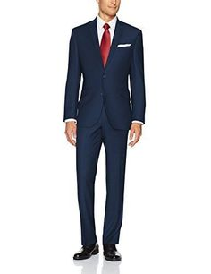 Kenneth Cole REACTION Men's Plaid Check Stretch Slim Fit Suit with Hemmed Pant