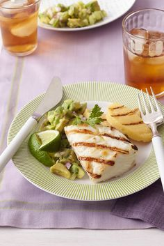 Grilled Halibut with Avocado Salsa recipe - quick, easy and healthy!
