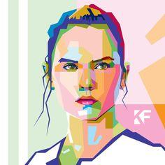 Daisy Ridley by Khrddn-vector