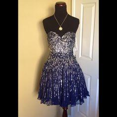 Sherri Hill Short Cocktail Evening Dress Size 6 Brand new. Sherri hill. Size 6 . Color: Navy Sherri Hill Dresses