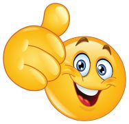 emoticon showing thumbs up sticker
