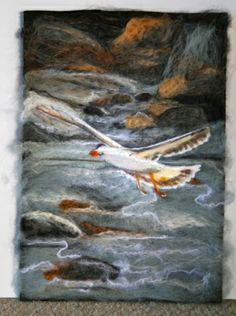Kelp Gull Wool Art