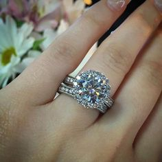 This pin comes from our special post on diamond lingo – we think you should talk the talk before you shop the shop! We shot this ring with its matching wedding band, a perfect fit and a match made in heaven.