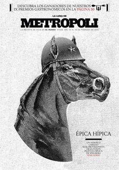 Covers of Metrópoli( Illustration) by Raul Arias, via Behance