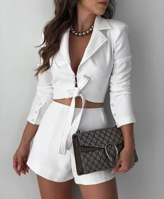 Cute Casual Outfits, Chic Outfits, Casual Chic, Spring Outfits, Fashion Outfits, Womens Fashion, White Fashion, Casual Looks, Blazer