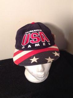 NWT VINTAGE 1996 USA OLYMPICS ATLANTA 100TH ANN SNAPBACK HAT NBC SPORTS  Starter  Starter  USA ac7b6c9964c4
