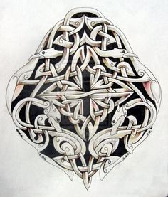 Celtic birds and dogs by ~knotty-inks on deviantART