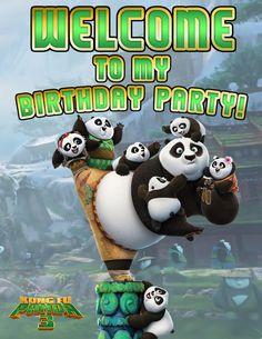 Kung fu panda 3  FREE biirthday party printables