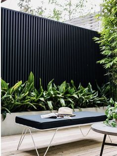 Our courtyard feature in the new Planted Magazine! Planted Magazine – Photographer: Hannah Blackmore – Stylist: Alana Langan - All About Gardens Outdoor Areas, Outdoor Rooms, Outdoor Living, Outdoor Benches, Outdoor Fire, Outdoor Lounge, Outdoor Walls, Garden Screening, Shed Screening Ideas