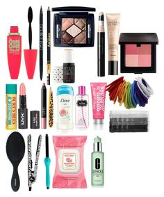 """""""makeup set three"""" by perrylib on Polyvore featuring beauty, Maybelline, PurMinerals, Sisley, Christian Dior, Benefit, Vincent Longo, Guerlain, Laura Mercier and NARS Cosmetics"""