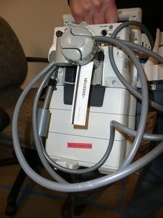 This comes from Flickr user connectologist and is a (to me) unknown medical device that also looks a bit like a face (seeing faces in things is known as pareidolia).
