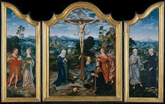 The Crucifixion with Saints and a Donor - Joos van Cleve  (Netherlandish, Cleve ca. 1485–1540/41 Antwerp) and a collaborator