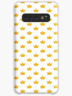 This brand new 'Golden Crown' design will look great on any item. It is timeless, bold and eye-catching. / Treat yourself or find somebody the perfect gift. Choose your item and BUY IT NOW to place your order. Golden Crown, Galaxy Design, Style Snaps, Free Stickers, Golden Yellow, Iphone Wallet, Sell Your Art, Protective Cases, Finding Yourself