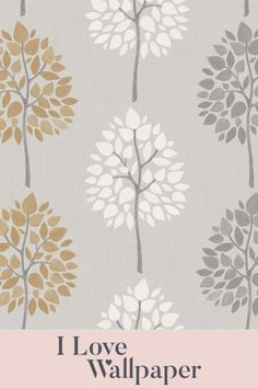 Bring character and personality to your bedroom by dressing your walls in the Multi Tree Wallpaper in Grey and Gold. This fanciful design adds depth and warm to your home decor.