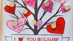 Make a tree of hearts with messages from your heart pinned on the tree for your valentine. Cute idea for all ages. Free printable on the blog.