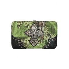 Cross Camouflage Framed Wallet Black