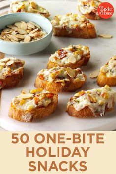 holiday appetizers 50 One-Bite Holiday Snacks Finger Food Appetizers, Appetizers For Party, Appetizer Recipes, Snack Recipes, Cooking Recipes, One Bite Appetizers, Fast Recipes, Savory Snacks, Holiday Snacks