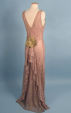 "Evening dress, ca 1935. Looks like a costume from Cole Porter's ""Anything Goes."""
