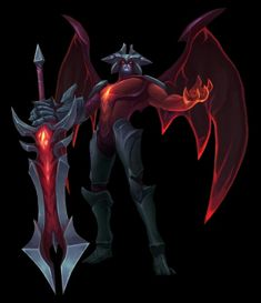"""""""I will snuff out the light, I shall make darkness eternal! Champions League Of Legends, Lol League Of Legends, Lol Champions, Character Costumes, Character Art, Arata Tokyo Ghoul, Illidan Stormrage, Anime Weapons, Angels And Demons"""