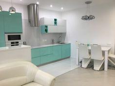 Почему мятные кухню ещё не в моде? #дизайн #кухня #цвет Kitchen Design, Bathroom, Bathtub