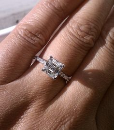 1.75 ct. asscher with tiny thin band..so pretty. I can dream, right?