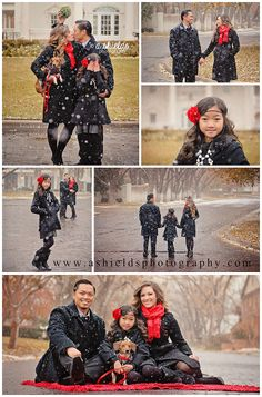 Winter Session   Snow Portraits   Family of 3   Family with Dog   Amarillo TX   Christmas Portraits   Photo by A Shields Photography