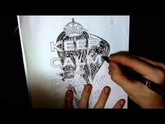 Keep calm and draw lines. (110x speed drawing) - YouTube
