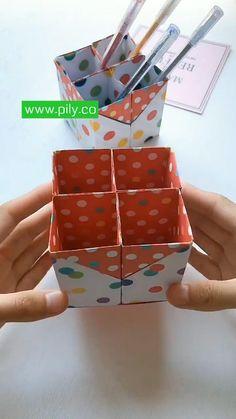 Diy Crafts For Girls, Diy Crafts Hacks, Diy Arts And Crafts, Fun Crafts, Paper Crafts Origami, Paper Crafts For Kids, Instruções Origami, Oragami, Diy Gifts