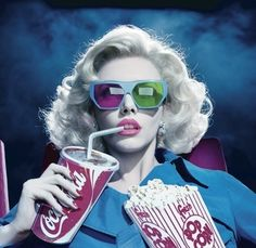 Beautiful,Blond,Blue,Cenema,Cinema,Coca colla