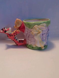 Winnie the Pooh Disney Ceramic Figural Coffee Mug Cup 100 Acre Colection in Collectibles | eBay