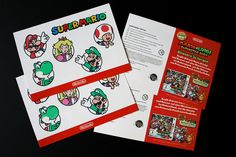Abwaschbare Tattoos für Nintendo Super Mario #printtattoo #abwaschbaretattoos #faketattoos #supermario Super Mario, Nintendo, Print Tattoos, Promotion, Playing Cards, Printing, Projects, Cards, Game Cards