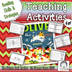 Let your holiday read aloud become more meaningful when you use this differentiated Reading Skills & Strategies pack inspired by the book Olive, the Other Reindeer.