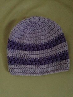 My own pattern . Purple and lavender hat perfect for fall weather