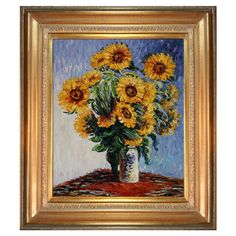 Sunflowers by Monet Framed Reproduction
