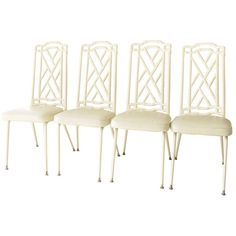Hollywood Regency Faux Bamboo Chairs
