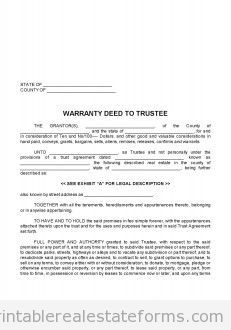 Printable general warranty deed template 2015 | Sample Forms 2015 ...