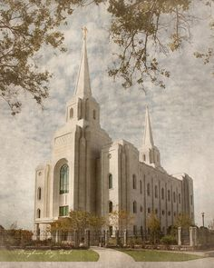 Brigham City Utah LDS Temple Print 20 x 16 by BrighterSideArt, $24.95