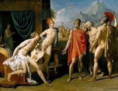 Embajadores enviados por Agamenon para motivar a Aquiles a luchar (1801) Jean Auguste Dominique Ingres