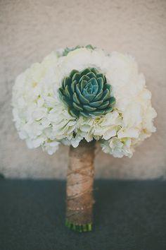 Succulent Bouquet with hydrangea