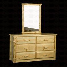 Viking Industries Wilderness Six Drawer #Dresser http://www.santaferanch.com/