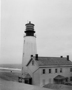 The Cape Henlopen Delaware lighthouse was built in 1767 and collapsed into the sea in 1926.  Many photographs of the structure can be found in the photograph collections at the Delaware Public Archives.