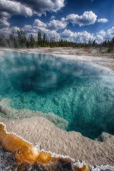 West Thumb Geyser Basin in Yellowstone, Montana.