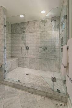 Glass closet door makeover tile 54 ideas for 2019 Rustic Master Bathroom, Master Bathroom Shower, Bathroom Layout, Bathroom Interior Design, Home Interior, Modern Bathroom, Small Bathroom, Bathroom Closet, Bathroom Art