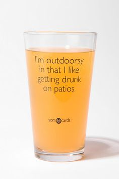 I'm Outdoorsy Pint Glass