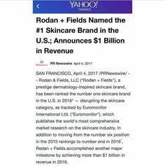 Name any other BILLION $ brand that invites you to join them in business. Rodan and Fields is redefining retail! I want you to be a part of this biz with me! PM me here or visit ginnysingleton.myrandf.biz ☺