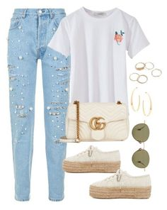 """Untitled #4157"" by magsmccray on Polyvore featuring Forte Couture, Superga, Gucci, Ahlem and Lana"