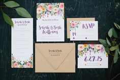 wedding invitation - photo by Allison Hopperstad Photography http://ruffledblog.com/wedding-ideas-inspired-by-floral-graffiti