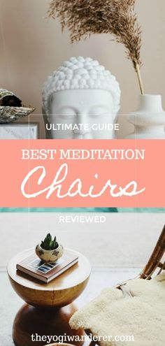 Check out this list of the top 10 best meditation chairs with back support + what to look for when choosing the best meditation chair for you, from the design to the ergonomics. This ultimate buying guide includes traditional Japanese wooden meditation chairs and modern yoga chair ideas like the popular Gaiam Rattan, as well as indoor and outdoor, foldable, portable, and comfy meditation chairs for sitting in lotus position or kneeling. #meditationchairs #yogachairs #meditationfurniture… Meditation Stool, Best Meditation, Meditation Rooms, Meditation Benefits, Meditation Practices, Meditation Music, Mindfulness Meditation, Guided Meditation, How To Relax Your Mind
